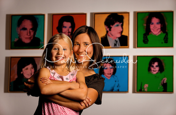 Vivian Bechtler and her daughter, Lily Bechtler, pose to have their photos taken at the Bechtler Museum of Modern Art, a Charlotte museum that features several thousand pieces of art from the Bechtler family collection. The museum opened January 2010 in Charlotte, NC, with a modern art collection that is said to be considered one of the most-important 20th century European collections in the South.