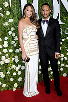 www.acepixs.com<br /> June 11, 2017  New York City<br /> <br /> Chrissy Teigen and John Legend attending the 71st Annual Tony Awards arrivals on June 11, 2017 in New York City.<br /> <br /> Credit: Kristin Callahan/ACE Pictures<br /> <br /> <br /> Tel: 646 769 0430<br /> Email: info@acepixs.com