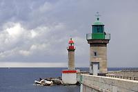 - Corsica, .Bastia, beacon for entry into port....- Corsica,  Bastia, faro di segnalazione per l'ingresso nel porto