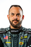Feb 7, 2018; Pomona, CA, USA; NHRA top fuel driver Tony Schumacher poses for a portrait during media day at Auto Club Raceway at Pomona. Mandatory Credit: Mark J. Rebilas-USA TODAY Sports