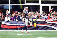 Sunday, October 2, 2016: New England Patriots wide receiver Matthew Slater (18) during the NFL game between the Buffalo Bills and the New England Patriots held at Gillette Stadium in Foxborough Massachusetts. Buffalo defeats New England 16-0. Eric Canha/Cal Sport Media