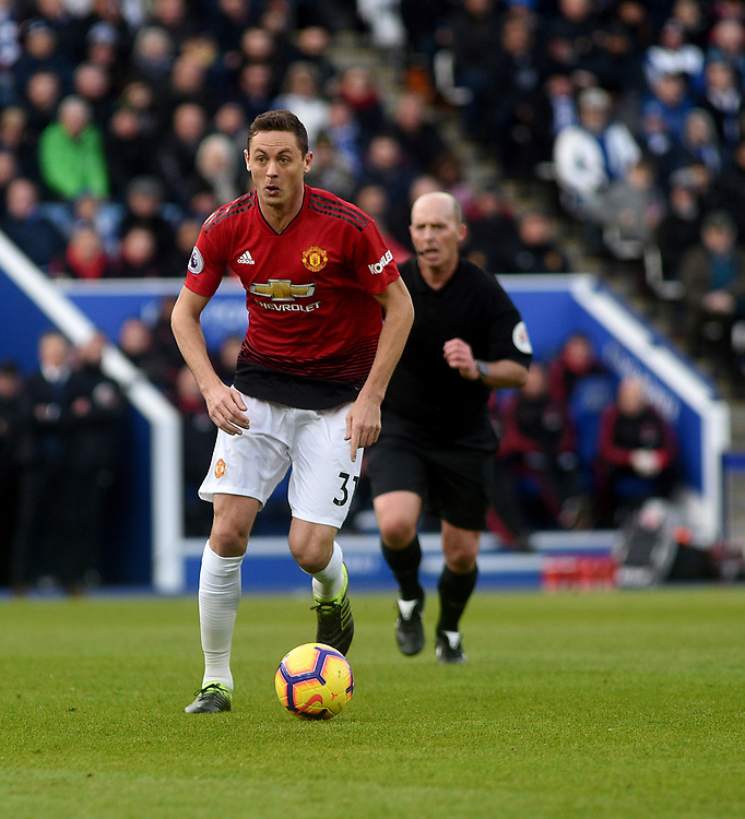 Manchester United's Nemanja Matic<br /> <br /> Photographer Hannah Fountain/CameraSport<br /> <br /> The Premier League - Leicester City v Manchester United - Sunday 3rd February 2019 - King Power Stadium - Leicester<br /> <br /> World Copyright © 2019 CameraSport. All rights reserved. 43 Linden Ave. Countesthorpe. Leicester. England. LE8 5PG - Tel: +44 (0) 116 277 4147 - admin@camerasport.com - www.camerasport.com