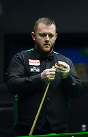 31st October 2019, Yushan, Jiangxi Province, China; Mark Allen of Northern Ireland competes during the round of 16 match against David Gilbert of England at 2019 Snooker World Open in Yushan