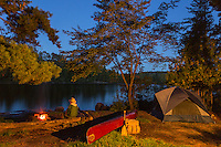 &quot;Crooked Lake Camp&quot; <br /> <br /> Evening campfires in the wilderness provide relaxing time for contemplation and inspiration. ~ Day 179 of Inspired by Wilderness: A Four Season Solo Canoe Journey.