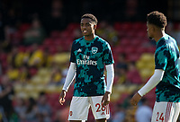 Joe Willock of Arsenal pre match during the Premier League match between Watford and Arsenal at Vicarage Road, Watford, England on 16 September 2019. Photo by Andy Rowland.