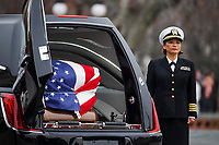 The casket of former President George H.W. Bush sits in a hearse in front of the U.S. Capitol, Wednesday, Dec. 5, 2018, in Washington. <br /> CAP/MPI/RS<br /> &copy;RS/MPI/Capital Pictures