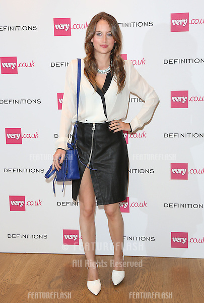 Rosie Fortescue at the Launch party for Very.co.uk introducing the new fashion brand Definitions at Somerset House<br /> London. 04/09/2013 Picture by: Henry Harris / Featureflash