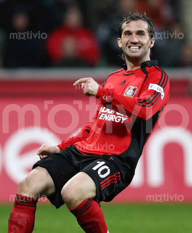 FUSSBALL     1. BUNDESLIGA     SAISON 2007/2008   23. SPIELTAG Bayer 04 Leverkusen - Hannover 96                           09.03.2008 Theofanis GEKAS (Bayer 04 Leverkusen)