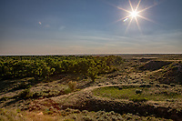 The Santa Fe Trail is still visible from Point of Rocks in the Cimarron National Grassland in western Kansas.