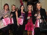 Roisín Matthews, Tina Fitzpatrick, Janelle Callan, Niamh McArdle and Aine Healy who attended the 'Pink & Bling' in aid of breast cancer awareness at the Black Bull. Photo:Colin Bell/pressphotos.ie