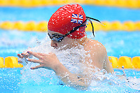 PICTURE BY ALEX BROADWAY /SWPIX.COM - 2012 London Paralympic Games - Day Ten - Swimming, Aquatic Centre, Olympic Park, London, England - 08/09/12 - Harriet Lee of Great Britain competes in the Women's 100m Breaststroke Final.
