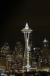 Seattle Space Needle with city in the background. Jim Bryant Photo. ©2010. All Rights Reserved.