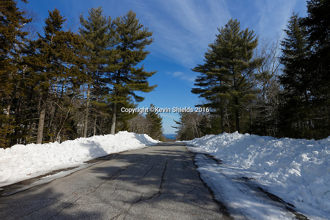 Winter at Camden Hills State Park, Maine, USA