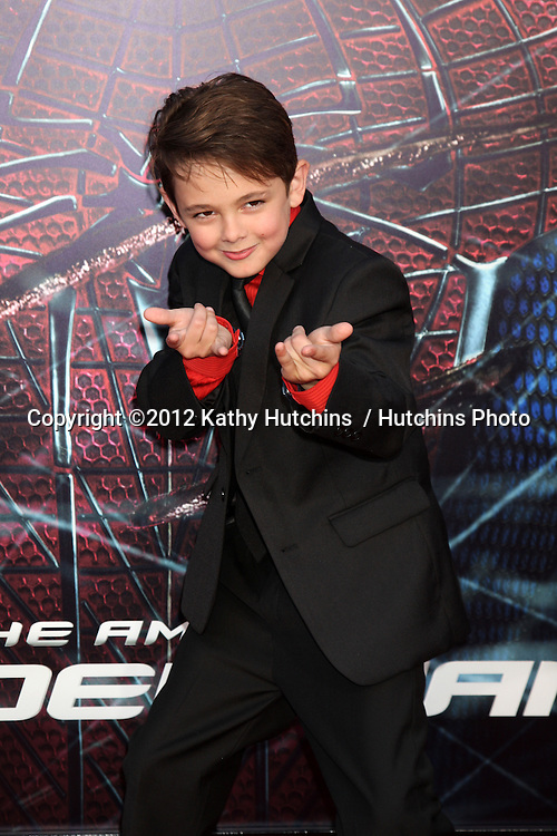 """LOS ANGELES - JUN 28:  Max Charles arrives at the """"The Amazing Spider-Man"""" Premiere at Village Theater on June 28, 2012 in Westwood, CA"""