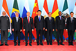 Chinese President Xi Jinping (5th L), Brazilian President Michel Temer (3rd L), Russian President Vladimir Putin (4th L), Indian Prime Minister Narendra Modi (2nd L), South African President Jacob Zuma (1st L), Egyptian President Abdel-Fattah al-Sisi (5th R), Guinean President Alpha Conde (4th R), Mexican President Enrique Pena Nieto (3rd R), President of Tajikistan Emomali Rahmon (2nd R) and Thai Prime Minister Prayut Chan-o-cha pose for photo before the Dialogue of Emerging Market and Developing Countries in Xiamen, southeast China's Fujian Province, Sept. 5, 2017. Photo by Egyptian President Office