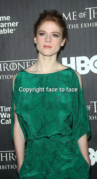 """NEW YORK, NY - MARCH 27: Rose Leslie at the """"Game Of Thrones"""" The Exhibition New York Opening at 3 West 57th Avenue on March 27, 2013 in New York City...Credit: MediaPunch/face to face..- Germany, Austria, Switzerland, Eastern Europe, Australia, UK, USA, Taiwan, Singapore, China, Malaysia and Thailand rights only -"""