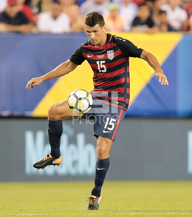 Philadelphia, PA - Wednesday July 19, 2017: Eric Lichaj during a 2017 Gold Cup match between the men's national teams of the United States (USA) and El Salvador (SLV) at Lincoln Financial Field.
