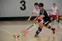 Thailand&rsquo;s Thanaporn Tongkham in action during the World Floorball Championships 2017 Qualification for Asia Oceania Region - Japan v Thailand at ASB Sports Centre , Wellington, New Zealand on Saturday 4 February 2017.<br /> Photo by Masanori Udagawa<br /> www.photowellington.photoshelter.com.