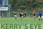Gavin White Dr Crokes powers  upfield with Kevin McCarthy Kilcummin in chase during their East Kerry clash in Killarney on Saturday