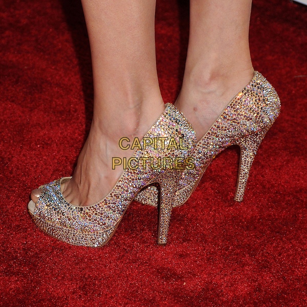 Brittany Ishibashi's shoes <br /> 65th Annual Emmy Awards Performers Nominee Reception held at the Pacific Design Center, West Hollywood, California, USA, <br /> 20th September 2013.<br /> detail feet shoes glittery sparkly <br /> CAP/ADM/BP<br /> &copy;Byron Purvis/AdMedia/Capital Pictures