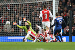 Monaco's Dimitar Berbatov scoring his sides second goal<br /> <br /> Champions League - Arsenal  vs AS Monaco  - Emirates Stadium - England - 25th February 2015 - Picture David Klein/Sportimage