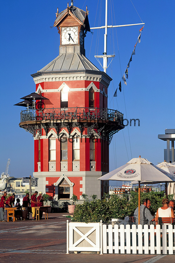 South Africa, Cape Town, V & A Waterfront - victorian clock tower