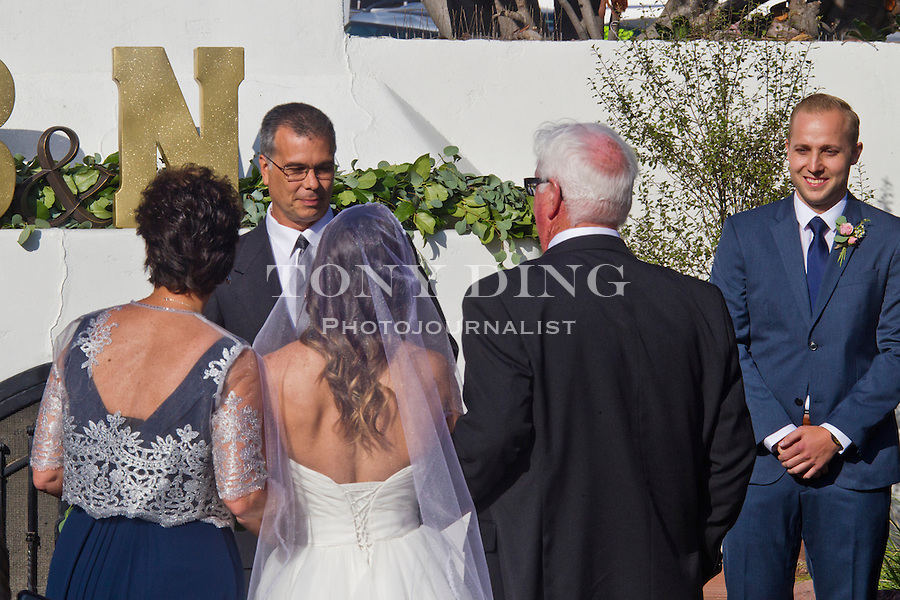 3 May 2015: Brent and Nicole Cox Wedding at The Casino in San Clemente, CA. (Photo by Tony Ding)