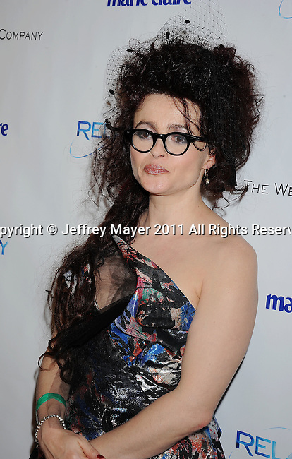 BEVERLY HILLS, CA - January 16: Helena Bonham Carter  arrives at The Weinstein Company and Relativity Media's 2011 Golden Globe After Party presented by Marie Claire held at BAR 210 - The Beverly Hilton Hotel on January 16, 2011 in Beverly Hills, California.