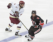 Tim Kunes, Ryan Ginand - The Boston College Eagles defeated Northeastern University Huskies 5-3 on Saturday, November 19, 2005, at Kelley Rink in Conte Forum at Chestnut Hill, MA.