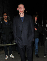Isaac Carew at the LFW (Men's) a/w2018 GQ Dinner, Berners Tavern, The London Edition Hotel, Berners Street, London, England, UK, on Monday 08 January 2018.<br /> CAP/CAN<br /> &copy;CAN/Capital Pictures