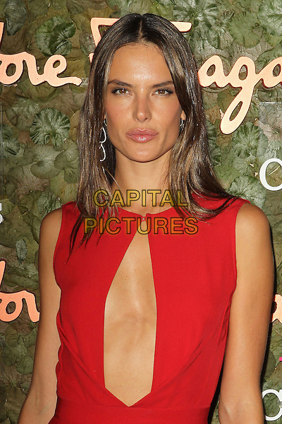 Alessandra Ambrosio<br /> Wallis Annenberg Center For The Performing Arts Inaugural Gala held at Wallis Annenberg Center For The Performing Arts,  Beverly Hills, California, USA, 17th October 2013.<br /> half length red sleeveless cut out  <br /> CAP/ADM/KB<br /> &copy;Kevan Brooks/AdMedia/Capital Pictures