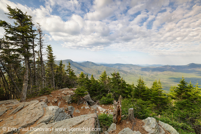 May 2016 - Mountain view from Mount Tecumseh in Waterville Valley, New Hampshire on a cloudy May day. Unauthorized tree cutting over the last few years has improved this view. The U.S. Forest Service is trying to determine who has been cutting the trees down.