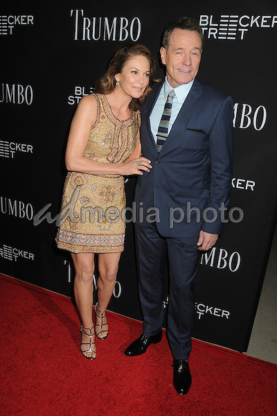 "27 October 2015 - Beverly Hills, California - Diane Lane, Bryan Cranston. ""Trumbo"" Los Angeles Premiere held at the AMPAS Samuel Goldwyn Theater. Photo Credit: Byron Purvis/AdMedia"