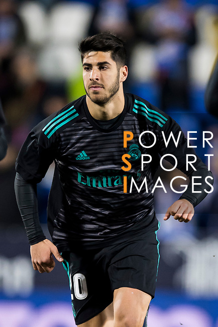 Marco Asensio Willemsen of Real Madrid warms up prior to the Copa del Rey 2017-18 match between CD Leganes and Real Madrid at Estadio Municipal Butarque on 18 January 2018 in Leganes, Spain. Photo by Diego Gonzalez / Power Sport Images