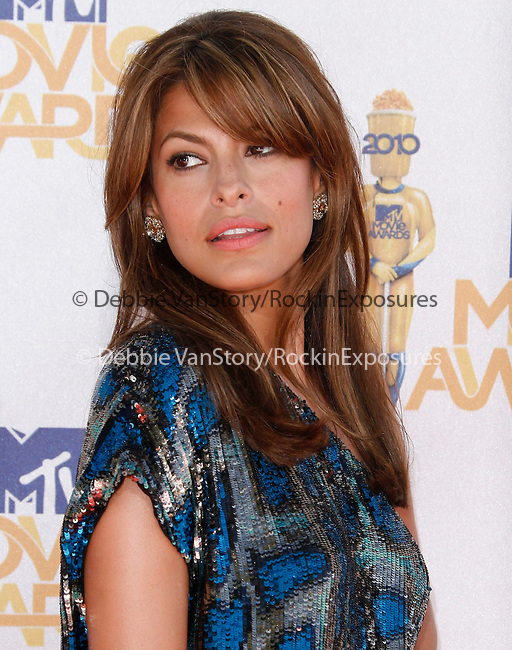 Eva Mendes at the 2010 MTV Movie Awards held at The Gibson Ampitheatre in Universal City, California on June 06,2010                                                                               © 2010 Debbie VanStory / Hollywood Press Agency