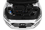 Car Stock 2019 Hyundai Sonata SE 4 Door Sedan Engine  high angle detail view
