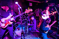 Inner Terrestrials, Greg miking up Paco's drums. Barnboppers and Shuddervision, Ska-lloween Gig 29 October 2011 The Wagon and Horses, Digbeth,