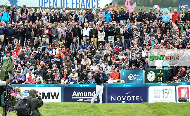 Rory McIlroy (NIR) begins the Final Round of the 100th Open de France, played at Le Golf National, Guyancourt, Paris, France. 03/07/2016. Picture: David Lloyd | Golffile.<br /> <br /> All photos usage must carry mandatory copyright credit (&copy; Golffile | David Lloyd)