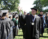 Virginia Governor Tim Kaine waves to the 2006 graduating class before making his way down the lawn Sunday May 21, 2006 at the University of Virginia in Charlottesville, Va. Photo