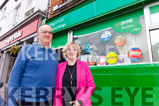 Marie and Martin Williams of Rock Street Post Office who are pleading with the Government to support local Post Offices before it is too late.