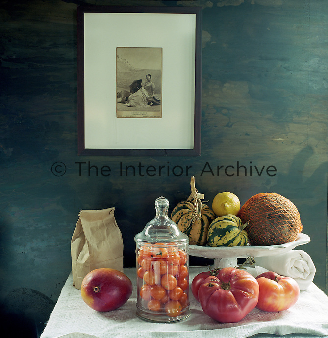 Everything in the house is styled and considered including food seen here as a still-life