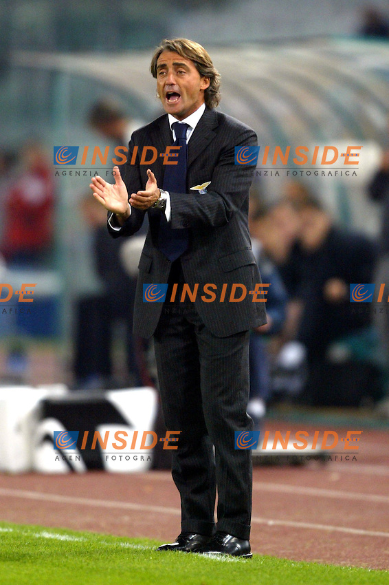 Roma 4/11/2003 Champions League<br /> Lazio Chelsea 0-4 <br /> Roberto Mancini (Lazio)<br /> Foto Andrea Staccioli / Insidefoto