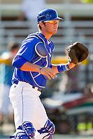 Burlington Royals catcher Cameron Gallagher #35 during practice at Burlington Athletic Park on June 15, 2012 in Burlington, North Carolina.  (Brian Westerholt/Four Seam Images)