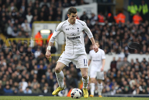 03.03.2013. London, England.Gareth Bale of Tottenham Hotspur  during  Premier League game between Tottenham Hotspur and Arsenal from White Hart Lane