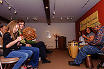 TORRINGTON, CT. 09 May 2018-050918BS162 - From the left, Julia Whipple, 7, of Torrington is all excited after being given an African Shaker to accompany the African Band during the celebration of Torrington's John Brown's birthday at the Torrington Historical Society on Wednesday evening. Bill Shettle Republican-American
