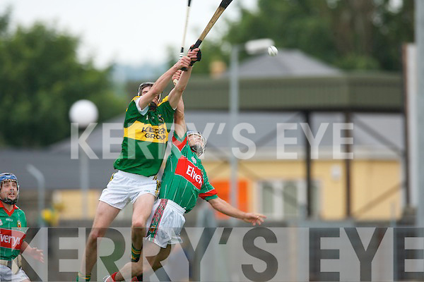 Kerry v Mayo in their.Christy Ring Hurling tie at Austin Stack Park on Saturday