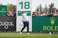 Justin Walters (RSA) the 18th during Round 4 of the Portugal Masters, Dom Pedro Victoria Golf Course, Vilamoura, Vilamoura, Portugal. 27/10/2019<br /> Picture Andy Crook / Golffile.ie<br /> <br /> All photo usage must carry mandatory copyright credit (© Golffile | Andy Crook)