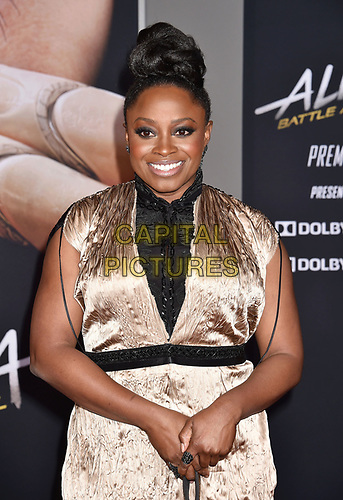 WESTWOOD, CA - FEBRUARY 05: Idara Victor attends the Premiere Of 20th Century Fox's 'Alita: Battle Angel' at Westwood Regency Theater on February 05, 2019 in Los Angeles, California.<br /> CAP/ROT/TM<br /> ©TM/ROT/Capital Pictures