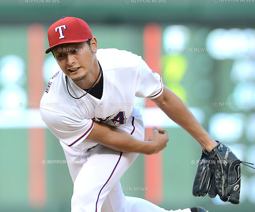 Yu Darvish (Rangers),<br /> AUGUST 1, 2013 - MLB :<br /> Yu Darvish of the Texas Rangers pitches during the Major League Baseball game against the Arizona Diamondbacks at Rangers Ballpark in Arlington in Arlington, Texas, United States. (Photo by AFLO)
