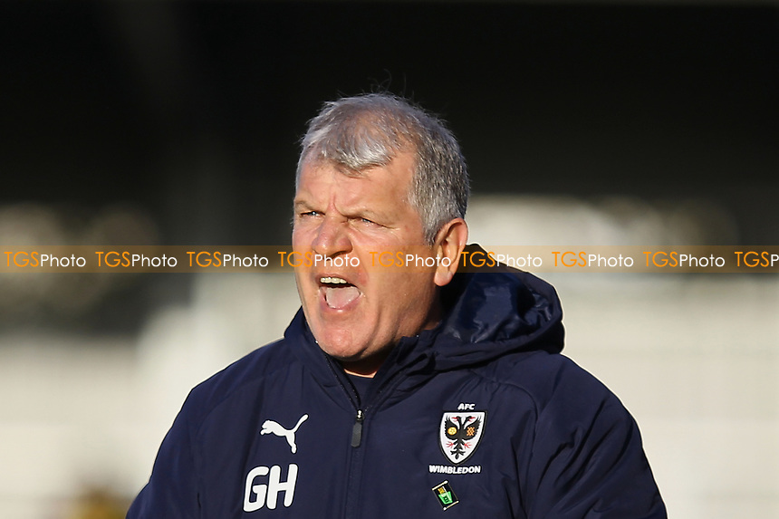 AFC Wimbledon manager Glyn Hodges during AFC Wimbledon vs Fleetwood Town, Sky Bet EFL League 1 Football at the Cherry Red Records Stadium on 8th February 2020